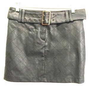Forever 21 black vegan-leather mini skirt